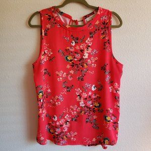 LOFT Primrose Mixed Media Top. Size L
